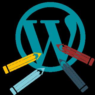 Wordpress Gestaltung Icon Buntstifte