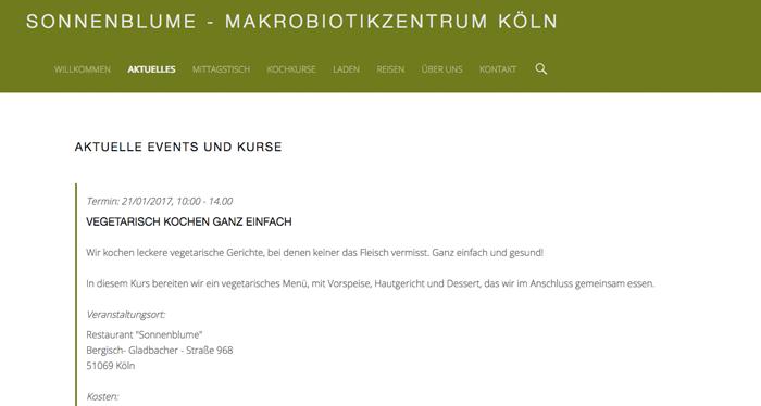Screenshot aktueller Termin auf ihrer Webseite